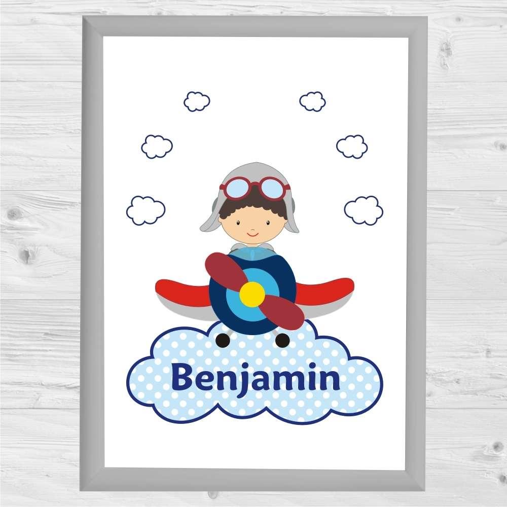 Flugzeug Kinderposter Kunstdruck kinderzimmerposter Artprint