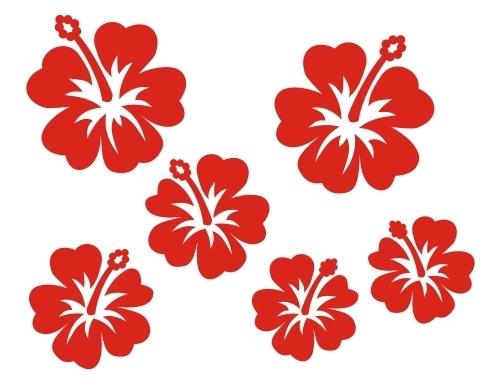 hawaii blume 032 b gelbild aufb gler applikation. Black Bedroom Furniture Sets. Home Design Ideas